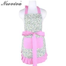 Купить с кэшбэком Neoviva Cotton Women Apron with Pocket for Housework, Style Kathy, Floral Alice's Secret Garden