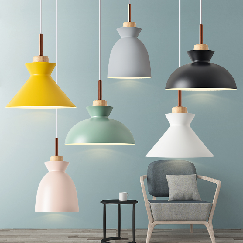 Scandinavian Restaurant Lamp Chandelier Modern Creative Bar Lamp Personality Color dining Room three Makaron Chandelier chinese modern creative lamp lift shrink mahjong chess room chandelier wood chandelier restaurant lamp