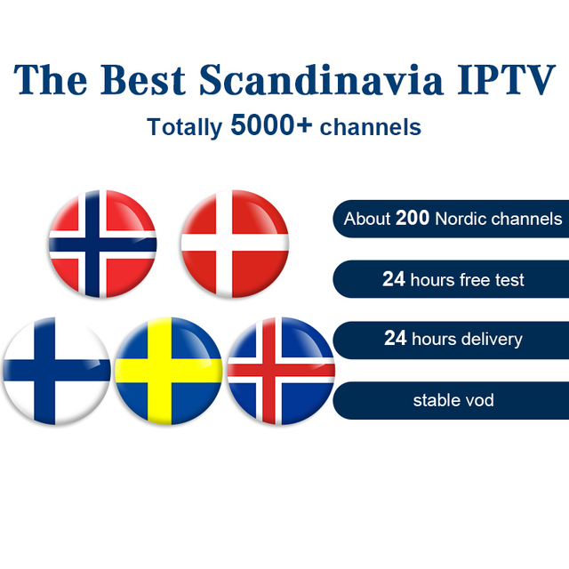 Sweden IPTV Scandinavian IPTV Norway IPTV Nordic IPTV Subscription for Android  PC IOS MAGBOX Smart TV