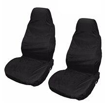 Новинка 2x Универсальные водонепроницаемые нейлоновые передние чехлы для сидений автомобиля Ван защитные черные пары