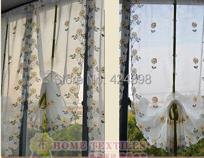 Tende Per Finestra Cucina : Rustico palloncino tende per le finestre qualità del ricamo sheer