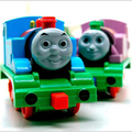 New Children's Toy Car Alloy 1:64 4 Colors Thomas Magnetic Train Locomotive Sound And Light Version Back Car Car Gifts x141