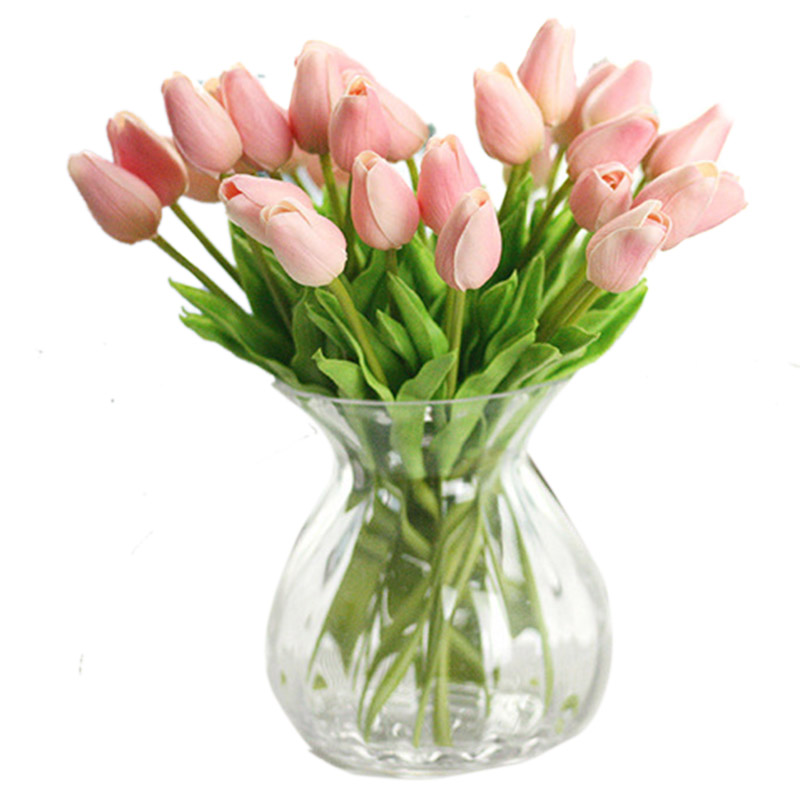 10pc free shipping artificial tulip flowers for wedding for Artificial flowers for wedding decoration