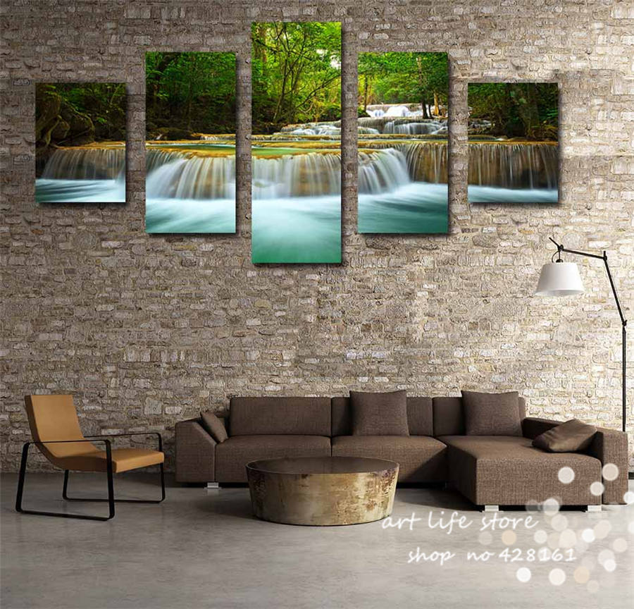 Printed High Quality Canvas Paintings Wall Art Pictures Home Decor Art Work Scenery Beauty Place Through