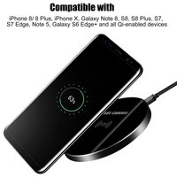 Fast Wireless Charger For Samsung Galaxy S9 S9Plus Quick Charge Glass Mini Qi Charger Case For Samsung S 9 Plus Phone Accessory