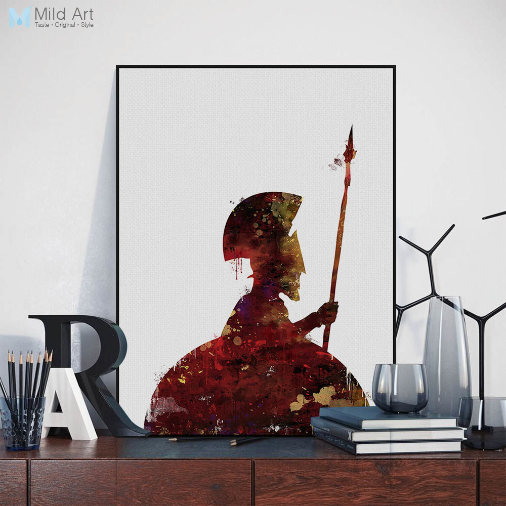 Modern Original Watercolor Pop War Movie Spartacus Canvas Art Print Poster Living Room Wall Picture Home Decor Painting Custom image