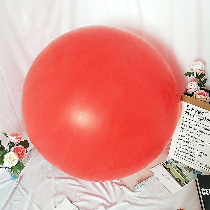 72 Inch Giant Large Round Jumbo Huge <font><b>Big</b></font> <font><b>Balloons</b></font> <font><b>Latex</b></font> Party <font><b>Balloon</b></font> Red 2019 image