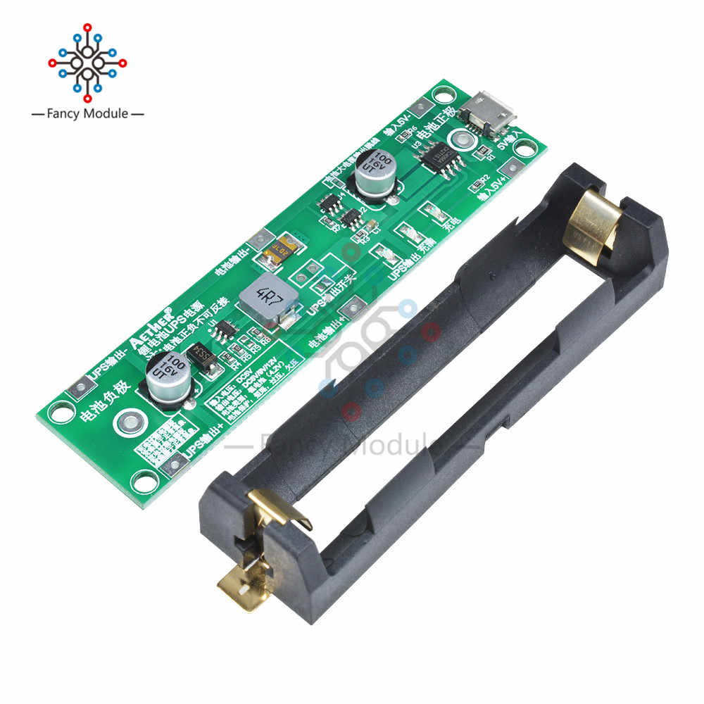 5V 18650 Lithium Battery Boost Step Up Module Charge Discharge the Same Time UPS Protection Board Charger Circuit Li-ion