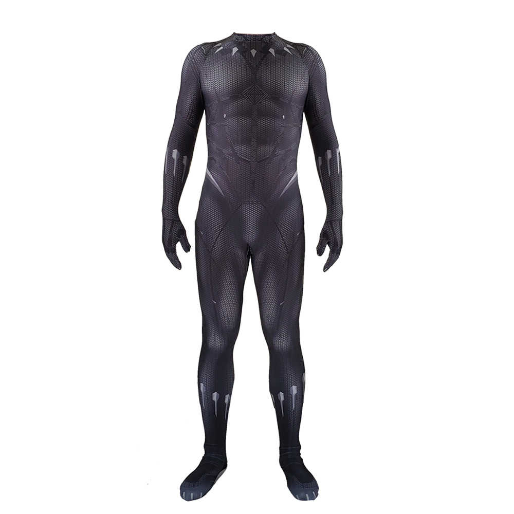 بدلة بطباعة ثلاثية الأبعاد على شكل نمر أسود طراز t'choa واكندا كينغ قناع تنكري رائع بدلة من أزياء الهالوين للرجال