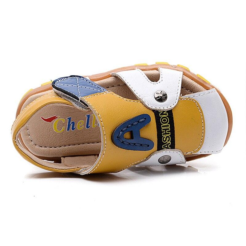 Ragazzi sandali di cuoio scarpe suola morbida per bambini infantili dei  pattini di bambino scarpe sandali della spiaggia di estate tendine alla end  in ... e32446f1fa6