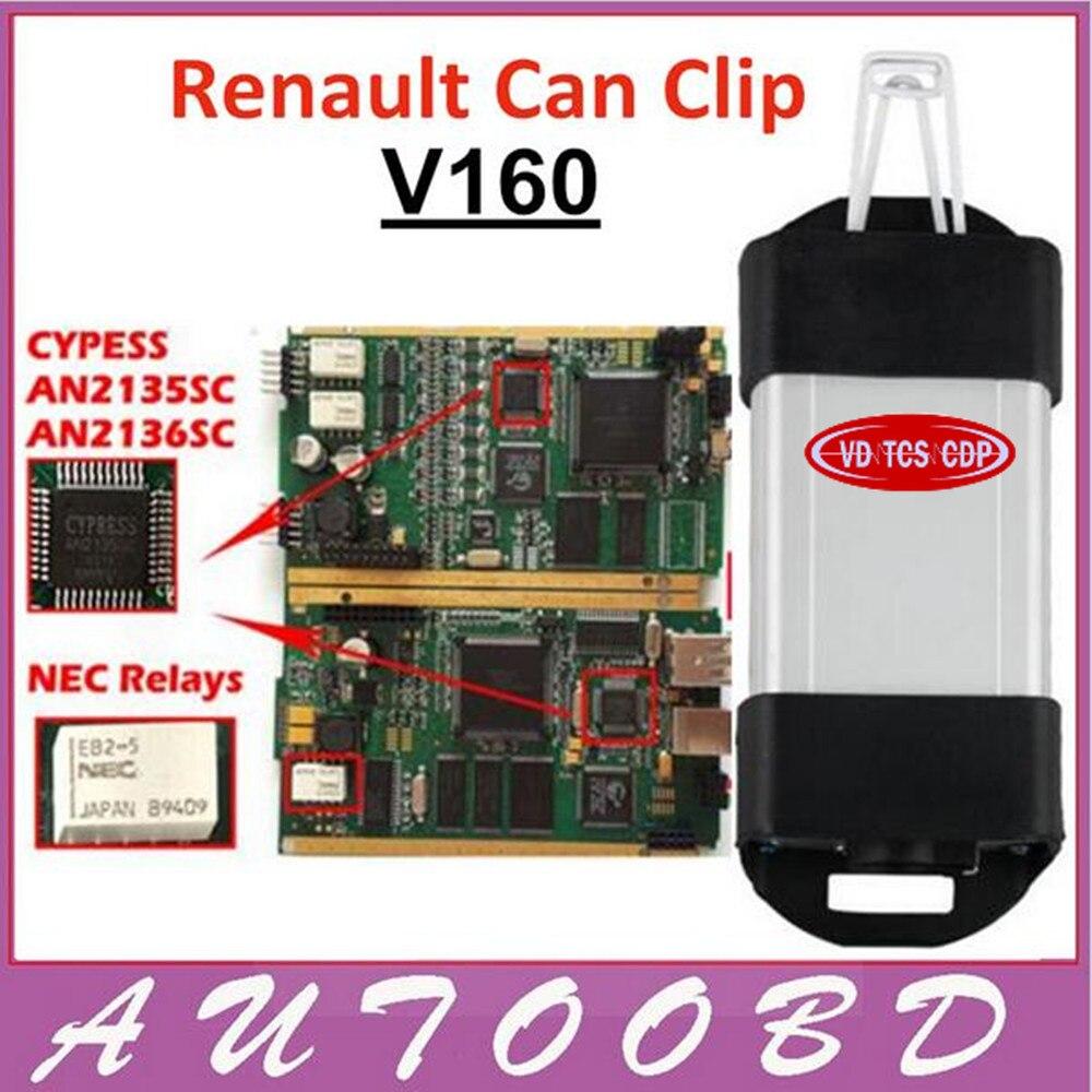 Цена за Версия + полный чип Renault может закрепить V160 с cyperss AN2135SC чип может клип для Renault тестер multi -Язык золотой край