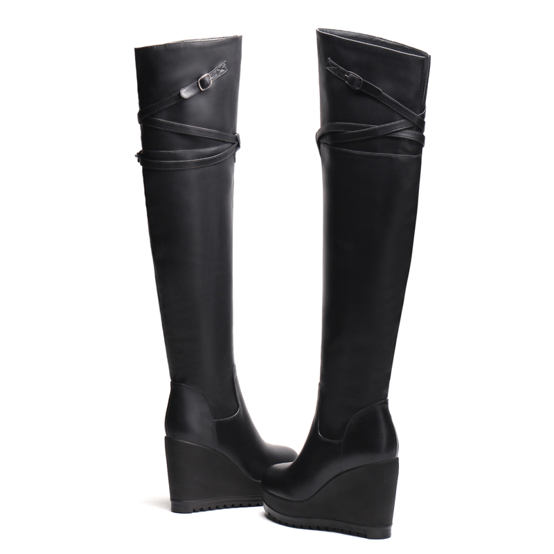 Cm Mode Zipper 2018 Black Le Femmes Furtado Boucle Dames Hauts Talons Hiver Sur Arden Chaussures Automne forme Genou 9 Coins De Plate Bottes 8kXOn0wP