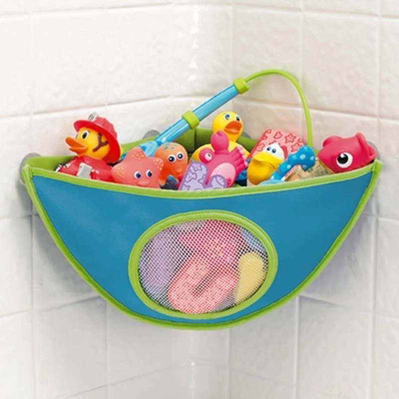 Bebé baño juguete colgante almacenamiento bolsa niño niños baño bañera impermeable organizador de juguetes para niños juguete