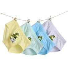 4pcs/pack Cute Boxers Underwear Kids Boys Cotton Teenage Underpants Cartoon Dinosaur Children Briefs Todder Clothes 1-14Y