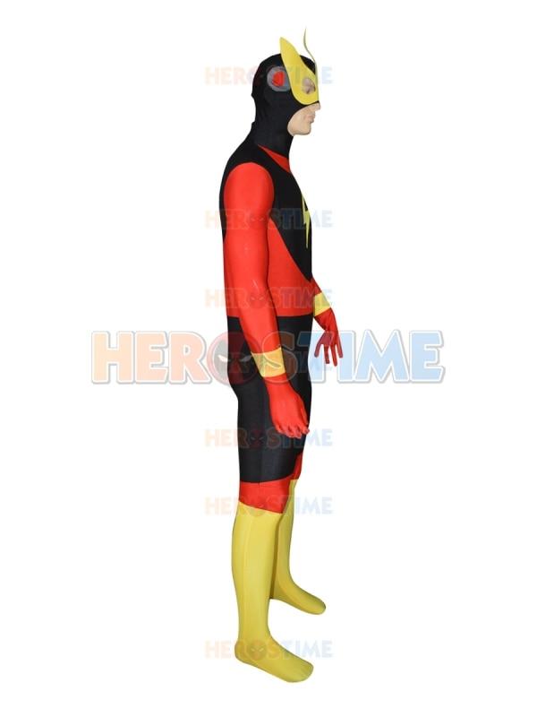 Nouvelle coutume le Costume de super héros Flash Lycra Spandex Halloween Cosplay Party Zentai Costume pour adulte/enfants le plus populaire - 2