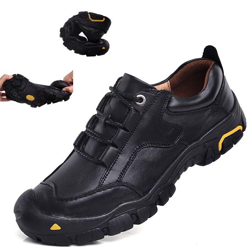 2018 가을 방수 정품 가죽 마사지 스포츠 로퍼 캐주얼 신발 남성 플랫 편안한 미끄럼 방지 남성 신발 스니커즈-에서남성용 캐주얼 신발부터 신발 의  그룹 1
