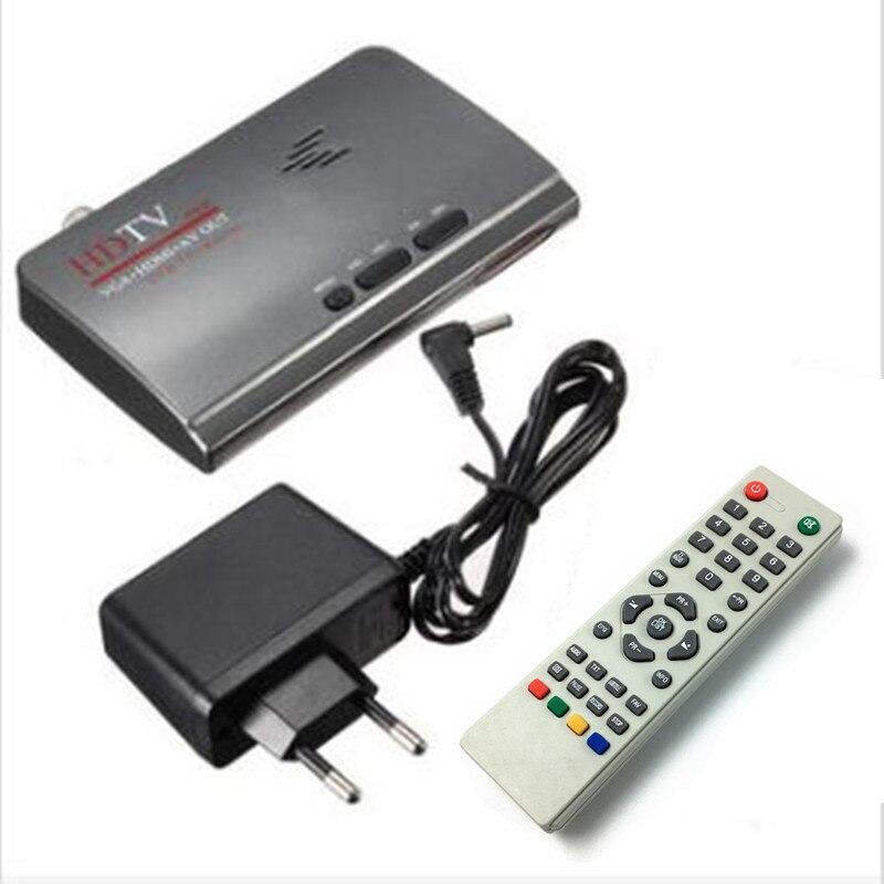 DVB-T/DVB-T2 TV Box VGA AV CVBS satellite tv receiver HDMI 1080 p TV Tuner Mit Fernbedienung EU UNS satellite finder