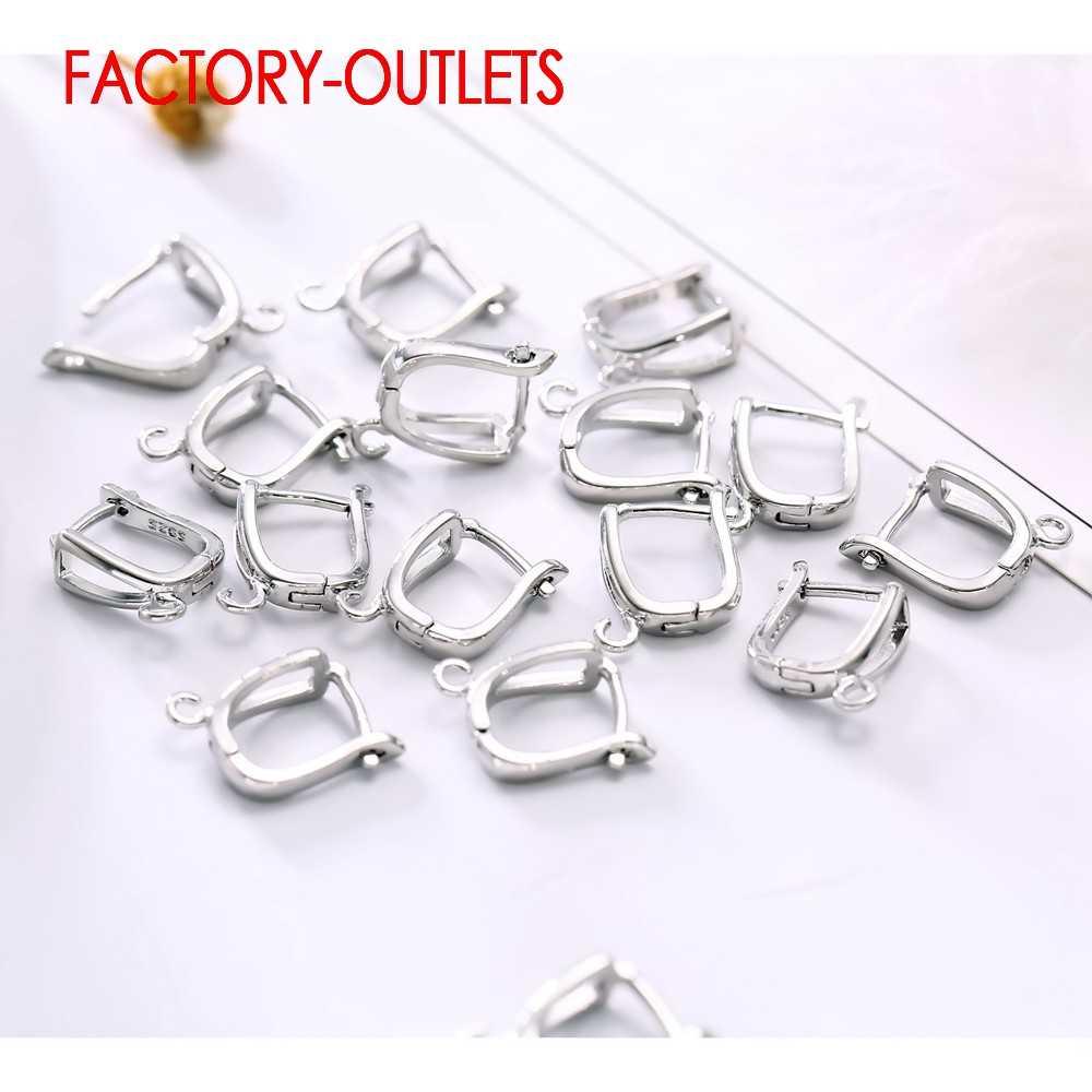 Big rabat moda New Arrival klamra w kształcie litery U kolczyki akcesoria dla kobiet biżuteria 925 Sterling srebrny kolczyk ustalenia