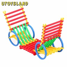 UTOYSLAND Ring Stick Tube Pipe Changeable Building Blocks Construction Assembly Educational Toy for Kids Children - Random Color(China)