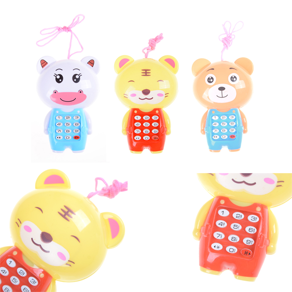 1pc Cute Baby Cartoon Music Phone Toys Educational Learning Toy Phone Gift For Kids Children's Toys Random Color
