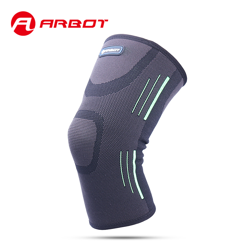 Arbot Breathable Basketball Leg Sleeve Comfortable Elastic Sports Leg Knee Support Brace Wrap Protector Knee Pads Sleeve Cap gathered sleeve surplice wrap dress