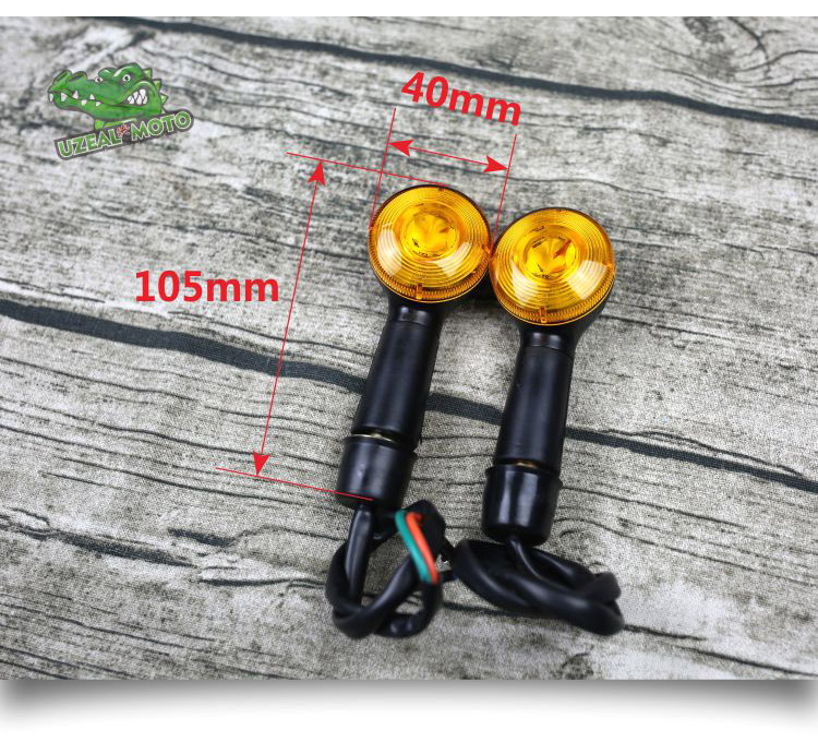 5 Colors Silver Side Marker Light Shell for Motorcycle ATV Scooter Dirt Bike 1 Pair 2 inch 55mm Round Reflector