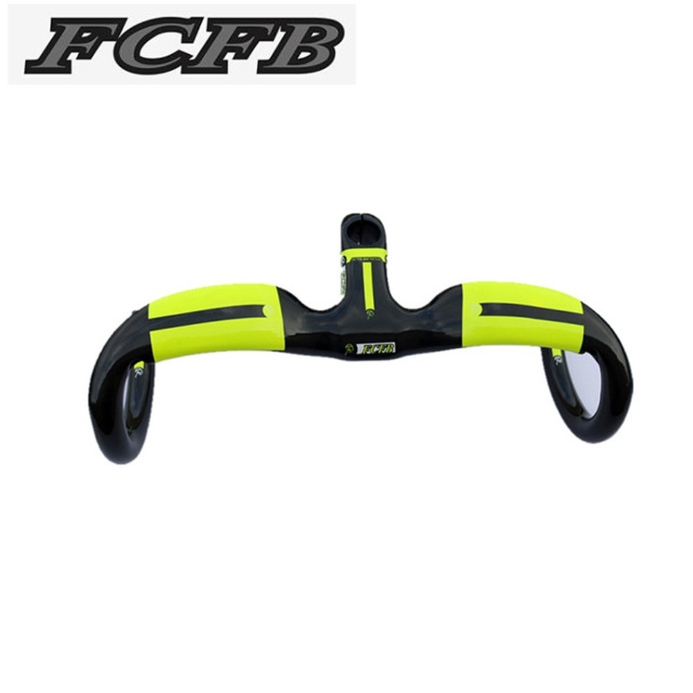 Specials! FCFB FW Full Carbon Fiber Road Bicycle Integrated Handlebar with stem 400/420/440x80/90/100/110/120mm free shipping specials free shipping txch road bicycle integrated handlebar with stem carbon reach 80mm drop 85mm support computer frame