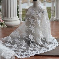 alencon Ivory high quality cord bridal lace fabric, High end elegant fine workmanship tulle mesh embroidered wedding lace