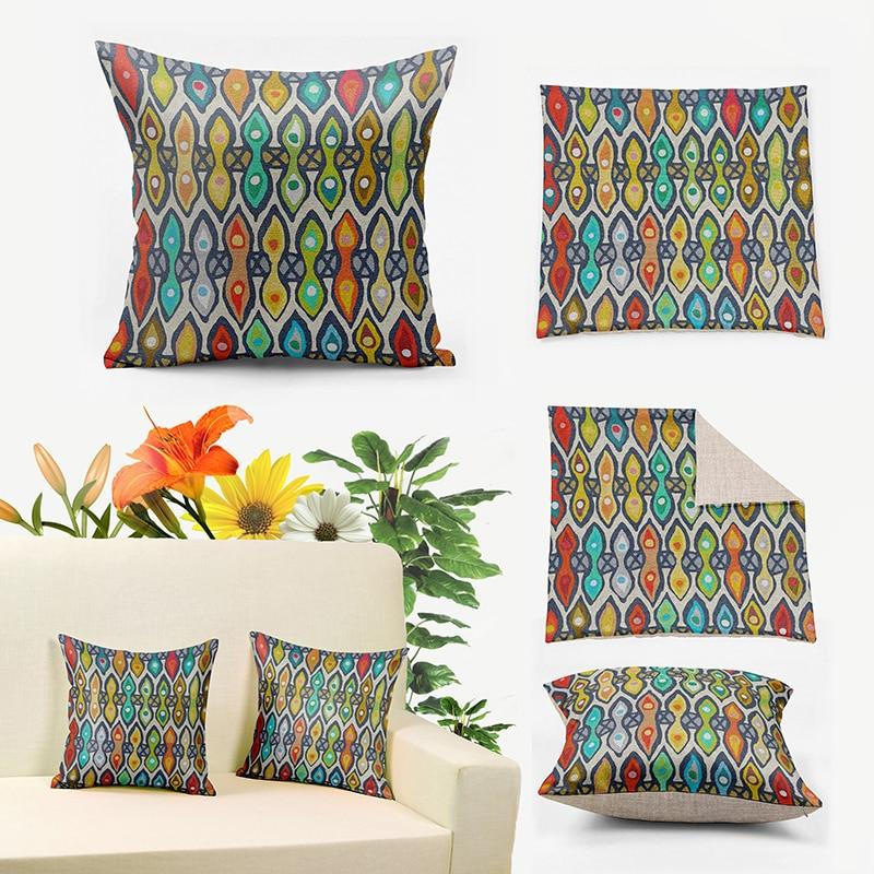 Remarkable Ikathome Vintage Watercolor Pictographic Totem Boho Tribal Linen Pillow Covers 60X60Cm 24X24Decorative Cushion Pillowcase Qw014 Download Free Architecture Designs Grimeyleaguecom