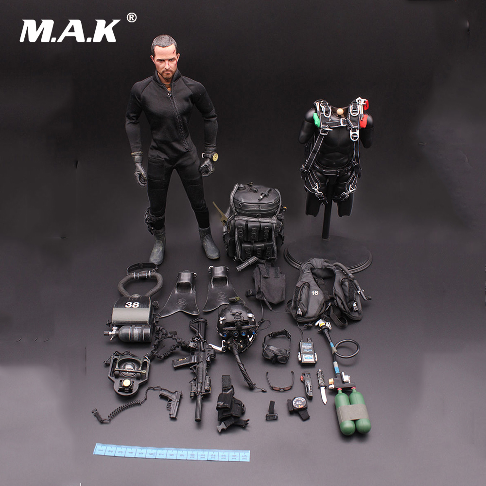 цена 1/6 Scale US NAVY Seal Halo UDT Jumper Paratroopers Frog People Model 12
