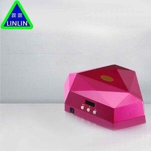 Image 3 - LINLIN Iki el elmas manikür lambası, 60 W güneş ışığı fototerapi makinesi, tırnak makinesi soğuk ışık kaynağı zarar vermez eller.