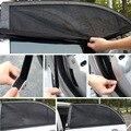 2 PCS Ajustável Auto Lado Do Carro Sol Janela Sombra Black Mesh Tampa Do Carro de Protecção Solar Sombrinha Proteção UV Viseira Escudo