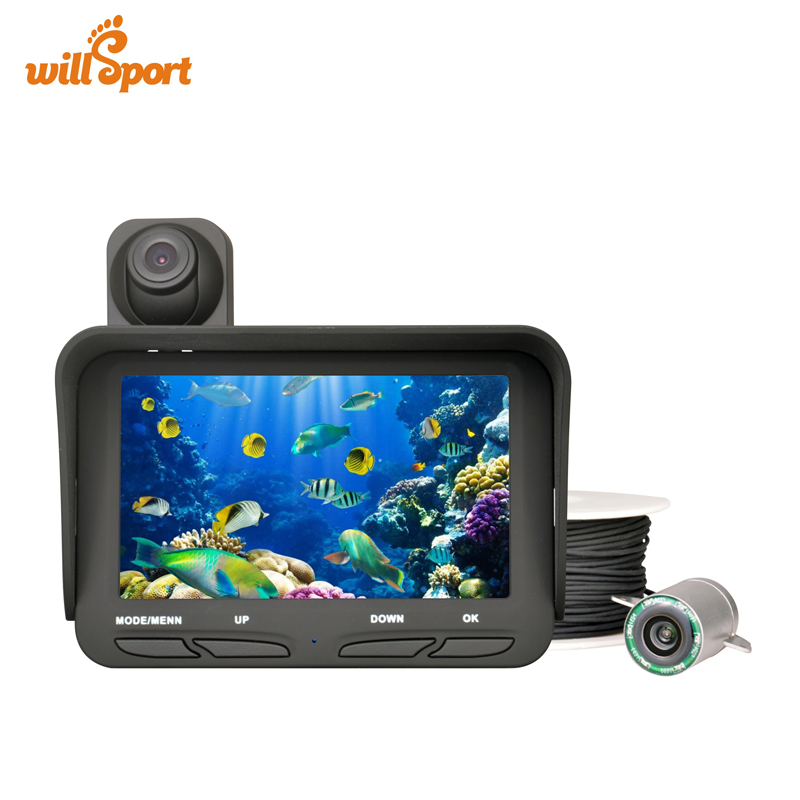 Dual Lens 20M Cable Fish Finder DVR 2 0 Mega Pixels Night View Ice Underwater Fishing