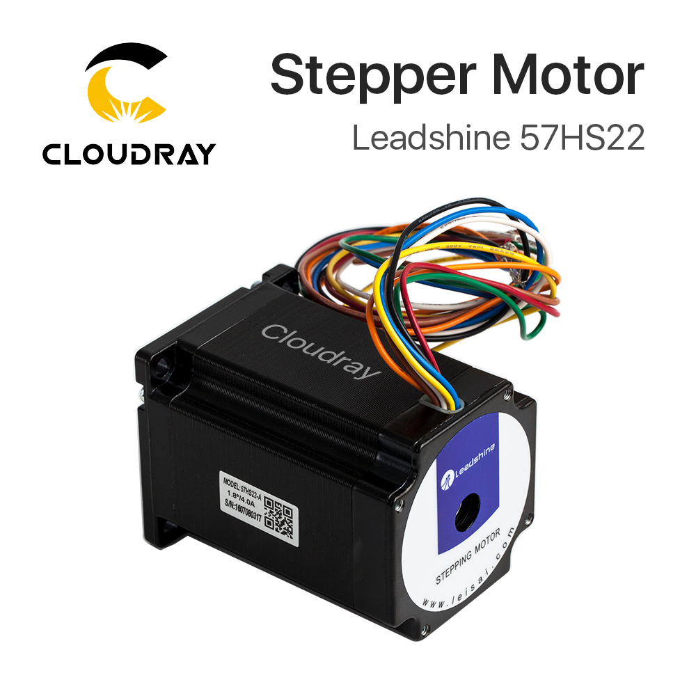 Leadshine 2 phase Stepper Motor 57HS22 NEMA23 5.6A Length 81mm Shaft 8mm