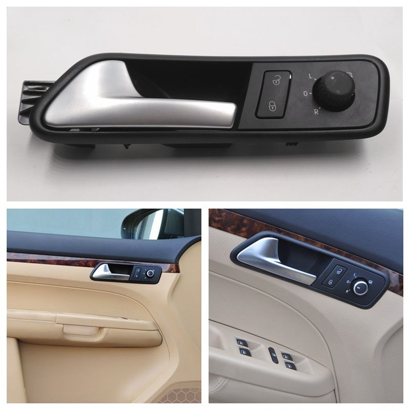 cafoucs car inside door handle with safety door lock swith and rearview mirror control knob. Black Bedroom Furniture Sets. Home Design Ideas
