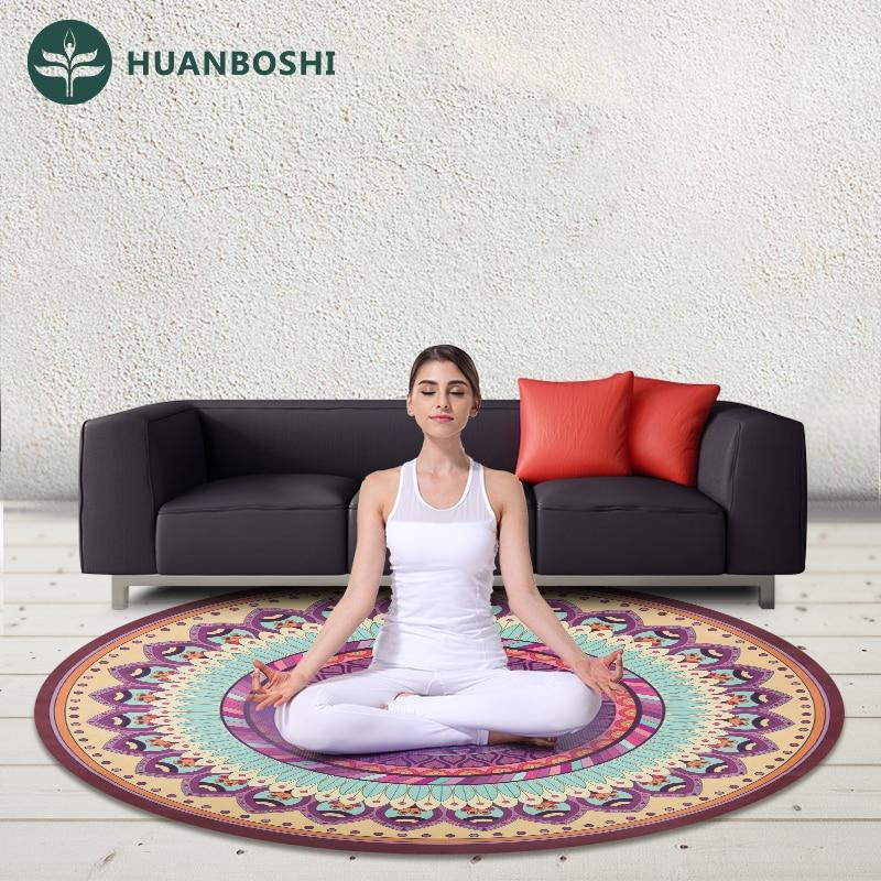 1.5m Diameter 1.5mm Thickness Round Yoga Mat Meditation ...