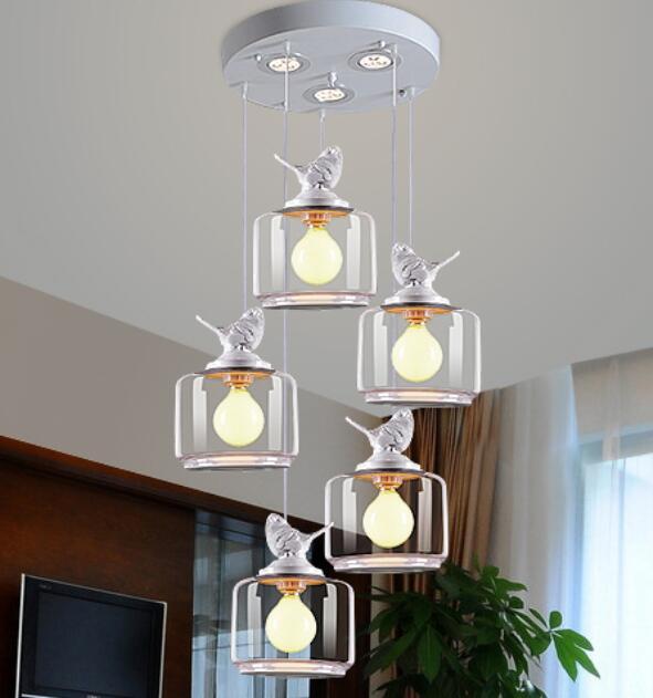 135 heads lampen vogel opknoping glazen restaurant bar kinderkamer slaapkamer diner amerikaanse landelijke lampen hanglamp zh fg851 in 135 heads lampen