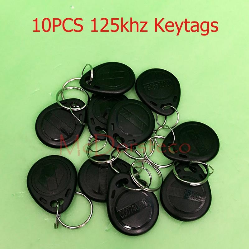 10 Pcs lot TK4100 EM ID keyfobs RFID Tag Key Ring Card 125KHZ Proximity Token Access