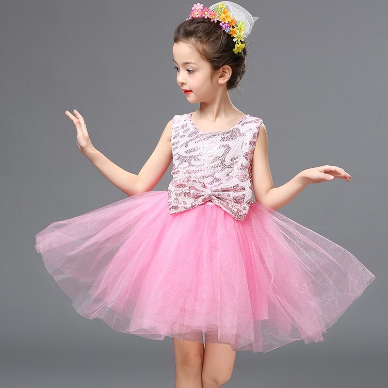 Girl Ballet Dress Dance Yarn Princess Dress Kindergarten Performance Clothes Shiny Leopard Print Ballroom Practice Girl Skirt