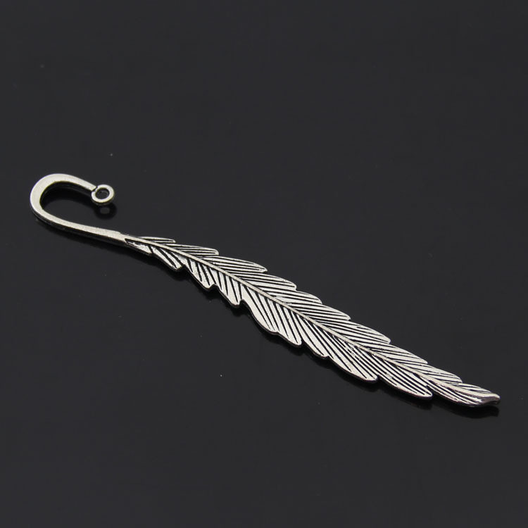 1000 PCS DIY Silver Tone Feather Bookmarks Jewelry Making Findings 11.7cm(4 5/8