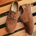 ZY Hombres Zapatos de Cuero Genuinos Ocasionales Zapatos de Los Planos de Los Hombres Frescos Del Verano y del Invierno Cálido Botas Para Hombre Zapatos Oxford Grande tamaño 38-48