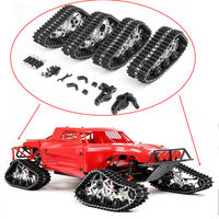 Metal Front Rear Crawler Snow Ground Tires Track Special Wheels Kit for 1/5 Scale Losi 5ive T Rovan LT RC Car TRUCK Parts