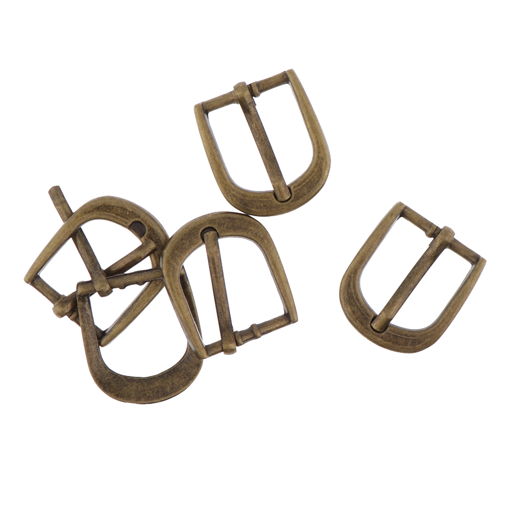 Vintage Unisex Bronze Belt Buckle Single Prong Strap Buckles Purse Making Accessories 20mm
