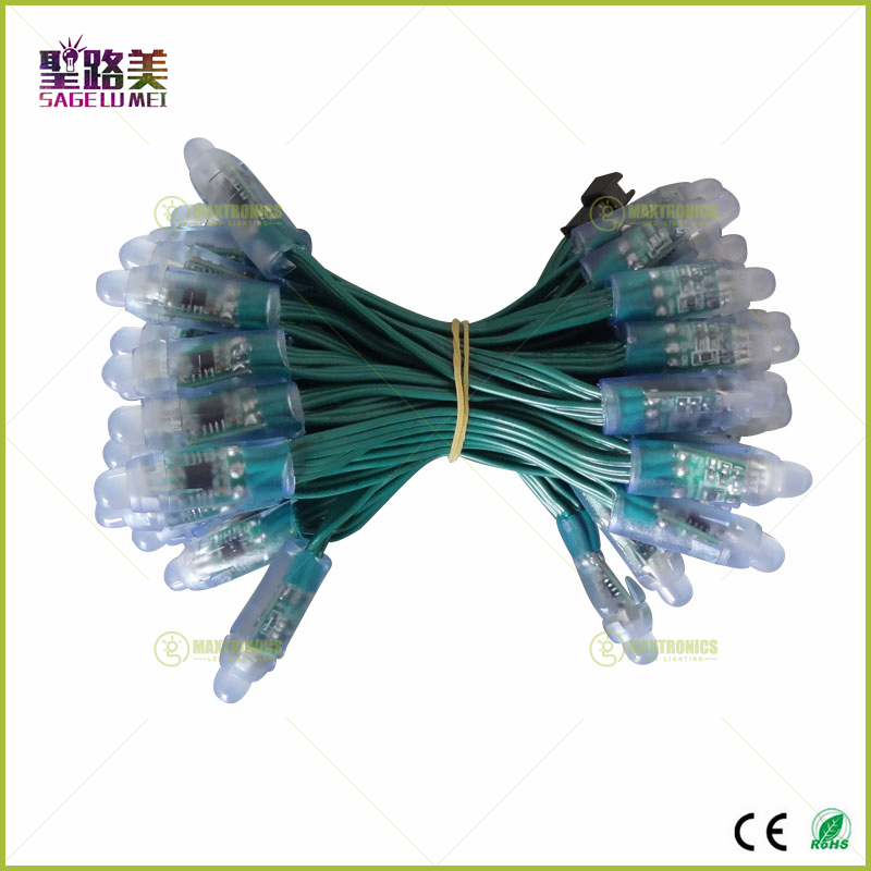 Wholesale-50-Pcs-string-12mm-WS2811-2811-IC-LED-Pixels-Module-String-Light-Green-Wire-cable1