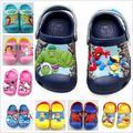 2017 nuevos Zapatos Del Verano del hombre araña Muchachos Gilrs minions 3D de dibujos animados deslizador de la playa, niños zapatos, sandalia del bebé, niño zapatos de la muchacha