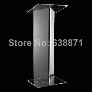 Free Shiping Clear Transparent Modern Design Acrylic Lectern,PMMA/Plexiglass Lectern Stand