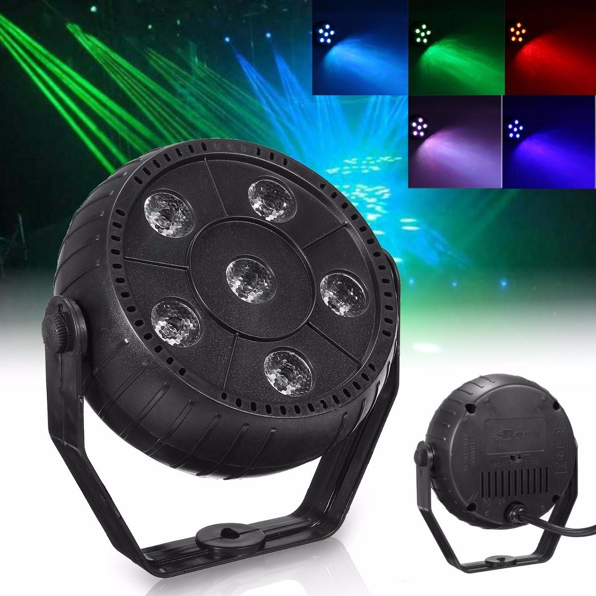 High Quality 7 Color Changing LED Flat Stage Light Laser RGB Bar Club DJ Disco Christmas Party Lamp Voice Control 7 color changing mode micro landscape plant light diy potted night light rechargeable rabbit lamp high quality