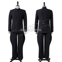 Star Wars Imperial Officer Uniform Cosplay Costume Black Man Suit Halloween Top And Pants Sets