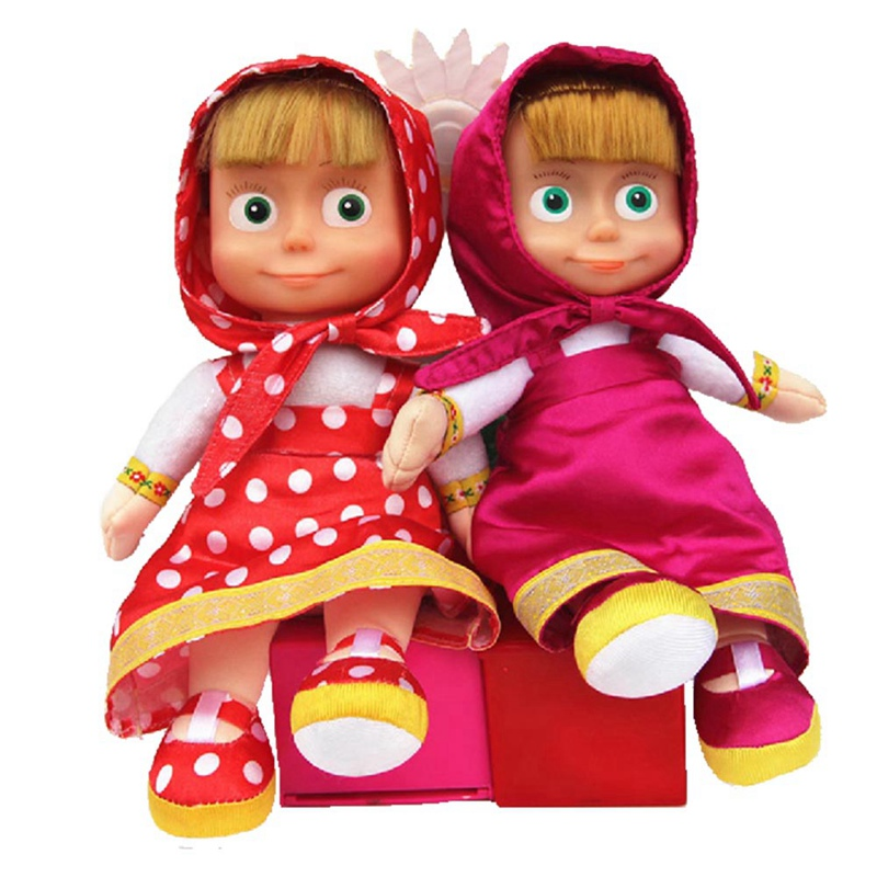 Russian Style Soft Cute Bear Plush Dolls No Battery Baby Children Gifts 22cm PP Cotton Boneca Stuffed&Plush Animals Toys