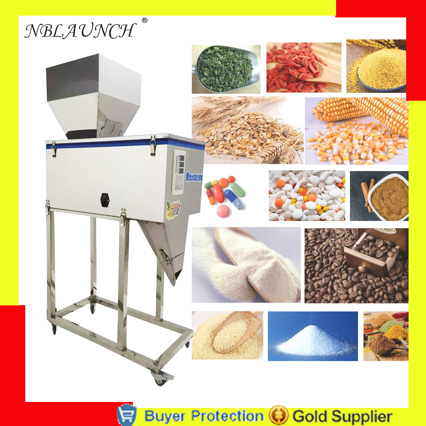 Home Appliances 2500g Filling And Weighing Machine Dog Cat Pet Food Coffee Beans Grain Seed Rice Racking Chemical Fertilizer Milk Powder Filler Good For Antipyretic And Throat Soother Kitchen Appliances